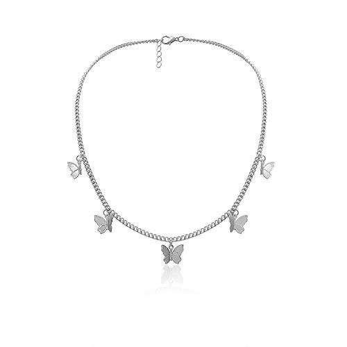 Damen vintage butterfly choker halskette boho einfachen stil schmetterling anhänger ohrring schlüsselbein kette für mädchen damen mama geburtstagsgeschenk hochzeit valentinstag geschenk