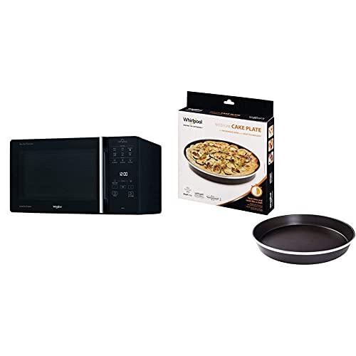 Whirlpool Mcp 349 Bl Chef Plus Microonde Termoventilato Combinato, Con Griglia Alta, Griglia Bassa & Avm280 Piatto Crisp A Bordo Alto Per Forno A Microonde