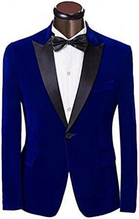 Royal blue velvet blazer mens _image4