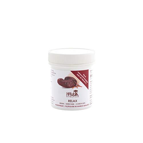 Hawlik Vitalpilze - Relax Vitalpilzmischung - 90 Kapseln - Reishi Pulver - Hericium Pulver - Cordyceps Extrakt - Vitamin C