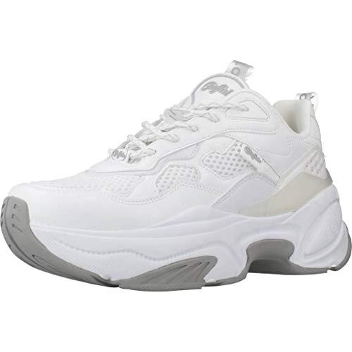 Buffalo Fierce P1, Zapatillas Altas Mujer, Blanco (White 000), 40 EU