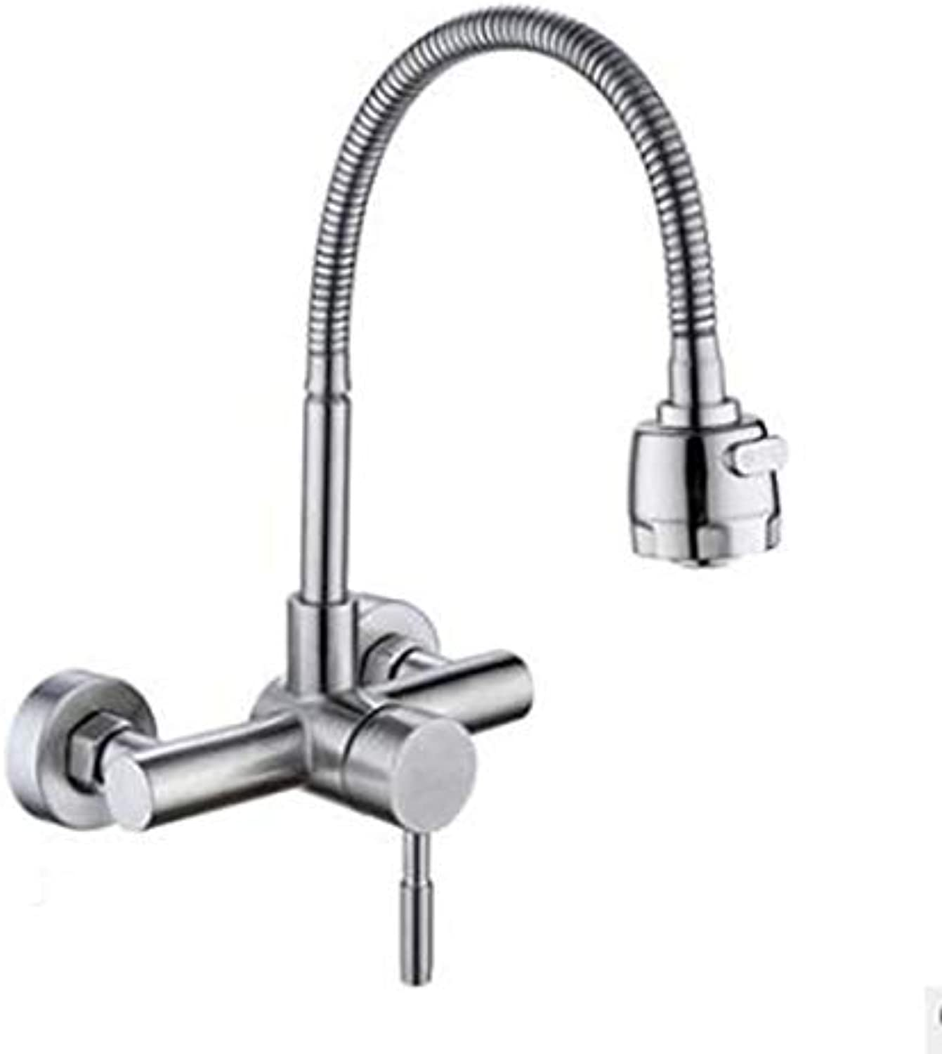 CHX Stainless Steel Swivel Kitchen Faucet Hot And Cold Wall Faucet Laundry Faucet CHXSF