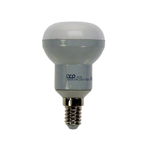 LYO 10046 – Ampoule LED avec réflecteur, R50, 6 W, E14, 550 lm 160 °, lumière chaude