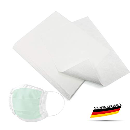 KIMENGO Filter für Atemschutzmaske I Filtereinsatz waschbar Filter mit ÖKO Tex Standard I Filtereinsatz wiederverwendbar, Maskenfilter, Mundschutz, Baumwolle