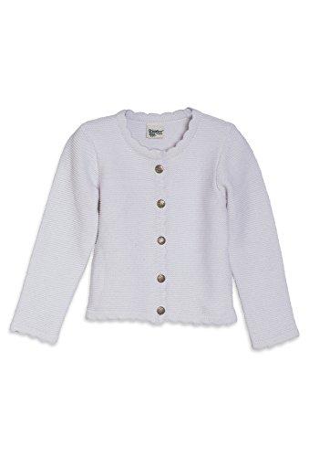 Distler Original Trachtenjacke aus Strick für Mädchen weiß,122