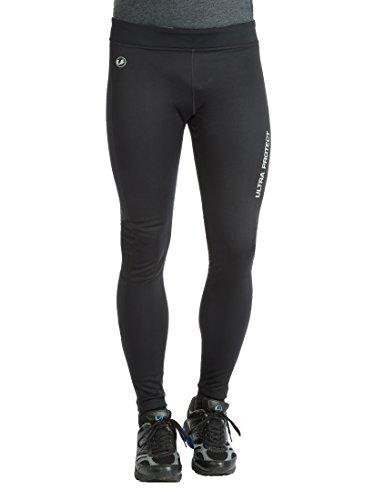 Ultrasport Windstopper Pantaloni da Corsa Funzionali da Uomo, Nero/Grigio, S