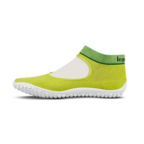leguano Ballerina grün – Leichter Barfußschuh für Damen (Numeric_38)