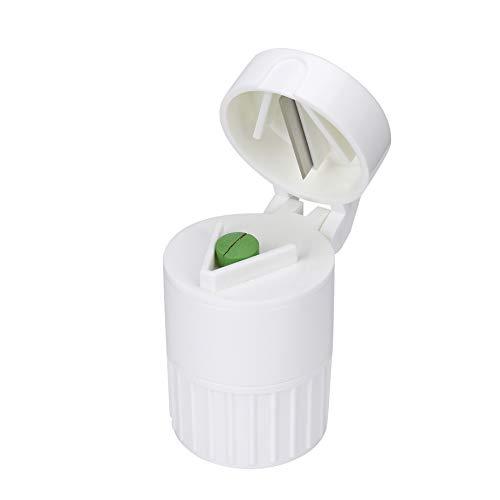 Pill Cutter Multifunción 4 en 1 Cortador Pastillas Tablet Splitter Medicación Grinder...