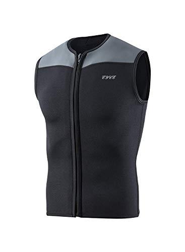 EYCE Dive & SAIL Mens Wetsuits Top Premium Neoprene 3mm Zipper Diving Vest (Black, Small)
