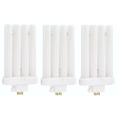 Pack of 3 - 27W Reading Desk Floor Fluorescen​t Light Tube 4pin Bulbs 6500K Sunlight Lamp