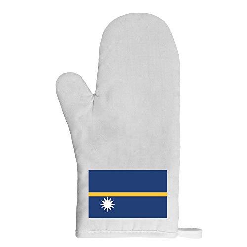 Mygoodprice Ofenhandschuh Topflappen Flagge Nauru