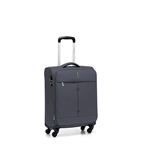 Roncato Maleta Pequeña XS Blanda Ironik - Cabina cm. 55 x 40 x 20/23 Capacidad 40-46 L, Extensible, Ligero, Cierre TSA, Aprobado para: Ryanair Easyjet Lufthansa, Garantìa 2 años