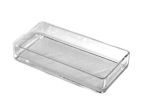 meindekoartikel Glasschale Dekoschale Steen in Verschiedene Varianten (Breite 24 cm - Tiefe 11 cm - Höhe 4 cm)