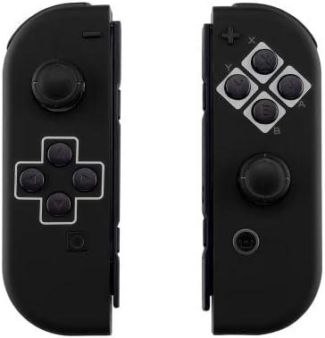 Custom Joy-Con's Controllers Soft Touch Finish Unique Design… (Multiple Designs Available) (Classic Black)