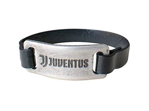bracciale uomo juventus JUVENTUS Bracciale Ufficiale Cuoio con Piastra Vintage