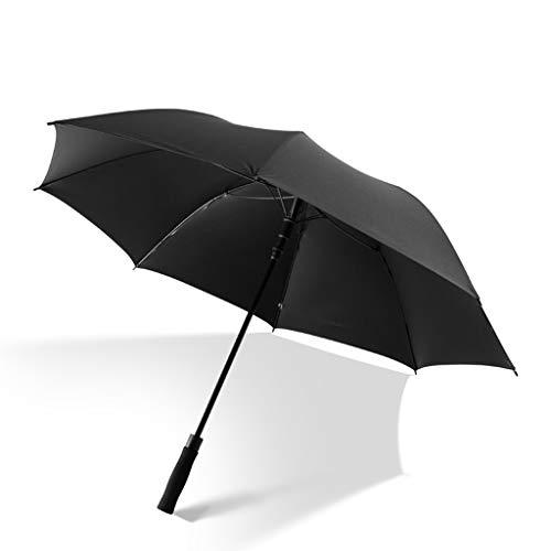 CS-YP Regenschirm, Regenschirm mit langem Griff, schwarzer Leimüberzug, UV-Schutz, Regen, Sonnencreme, bessere Wirkung (Farbe : Schwarz)
