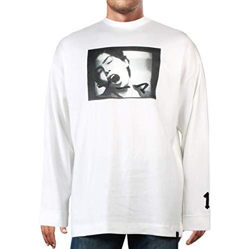Fenty Puma by Rihanna Mens Fitness Activewear Sweatshirt White L