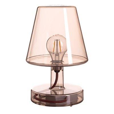 Fatboy Transloetje | Transparante Retro Tafellamp | Kleine Draadloze Tafellamp | Bruin