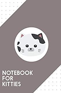 """Notebook for Kitties: Dotted Journal with White Cat with spotted fur Design - Cool Gift for a friend or family who loves spotlight presents!   6x9""""   180 White dotted pages - You Can Use It for School, College, Tracking, Journaling or as a Diary"""