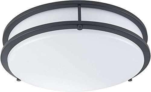 LB72166 LED Flush Mount Ceiling Light, Oil Rubbed Bronze, 16-Inch, 23W, (120W Equivalent), 5000K Daylight, 1610 Lumens, ETL & DLC Listed, Energy Star, Dimmable