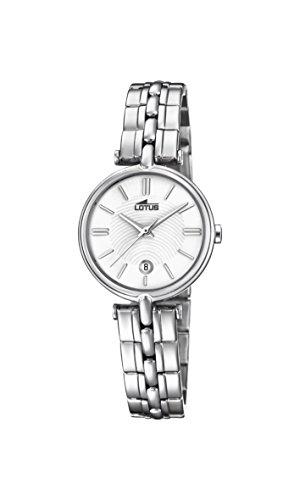Lotus Watches Reloj Análogo clásico para Mujer de Cuarzo con Correa en Acero Inoxidable 18456/1