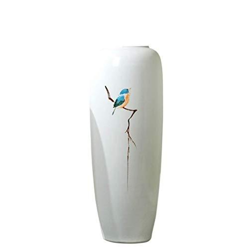 WKHQQ vaas porselein fles keramiek vaas, woonkamer decoratie, bloemen sieraden groen water hydrocultuur kunst TV kast decoratie, geschenk vervalste bloemenvaas (grootte: 26 x 60 cm) Jar