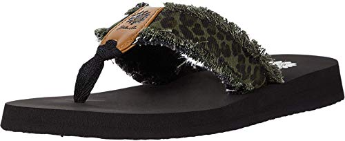 Yellow Box Women's Flip-Flop, Olive, 7.5