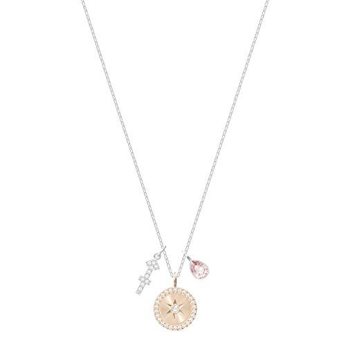 Swarovski Colgante Zodiac, Sagitario, de Mujer, Rosa, Baño de Rodio