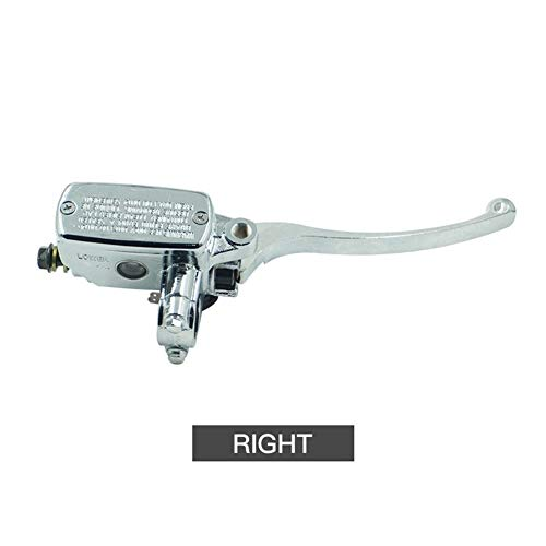 7/8' Interruptor Bomba de freno delantero 22 mm de motos hidráulica del cilindro maestro de plata Izquierda Derecha Disco de freno de palanca universal W/freno M10 (Color : Right)
