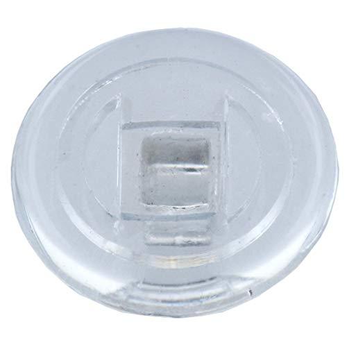 2 Paar (4 Stück) Nasenpads/Brillenpads - Silikon Schraubsystem, vers. Größen (rund 9mm)