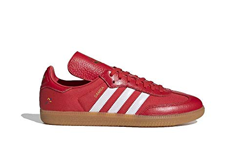 adidas Men's Oyster Holding Hands OG Shoes Red/White/Gold Metallic G26700 (Size: 10)