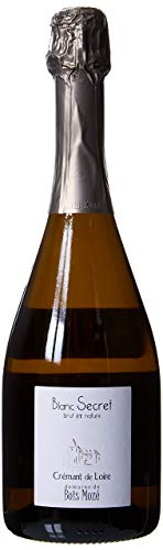 Crémant de Loire, Bois Mozé AOC, Vin pétillant Blanc Secret, 75 cl