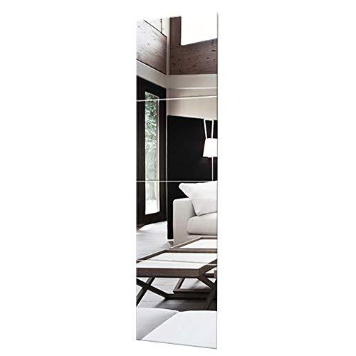 Mirror Espejo de Cuerpo Entero, Espejo sin Marco, Espejo Decorativo, Espejo de Pared, Espejo Autoadhesivo, Espejo de Baile, Espejo de Dormitorio