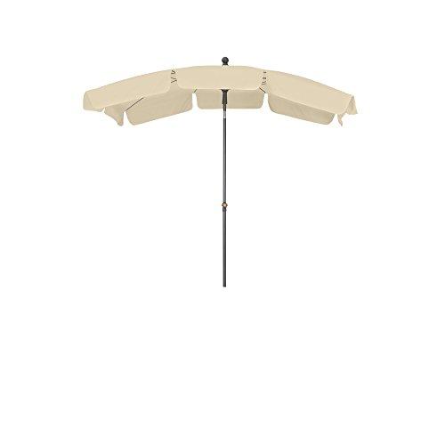 Siena Garden 271458 Tropico Parasol Base d'Acier/Polyester Nature/Anthracite 210 x 140 cm