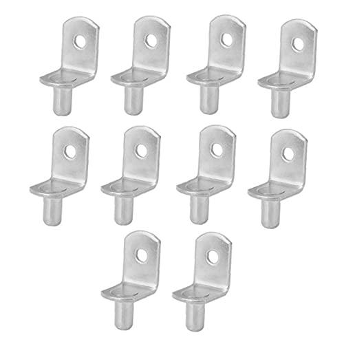 10PCS armario de soporte de las clavijas de soportes de pernos con orificio para el Armario Mueble estantería gabinete armario de la cocina