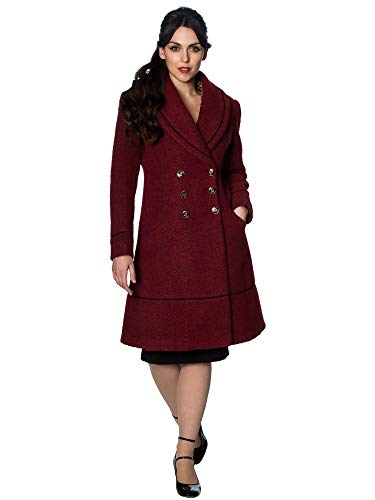 Banned Retro Mantel Lovely Laura Coat YBN6069 Rot M