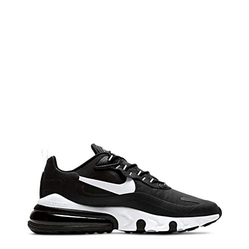 Nike Herren Air Max 270 React Leichtathletik-Schuh, Nero Black White Black, 44 EU