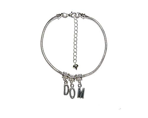 Master 'DOM' Euro Anklet Ankle Chain Jewellery Sub Slave Male Domination Daddy 2 - Sexy Jewels