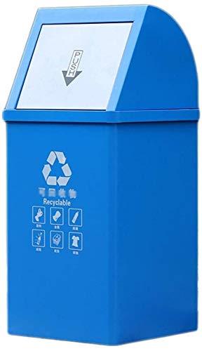 Vuilnisbakken buiten bakken for de recycling van afval: vuilnisbak met deksel for de tuin, afvalscheiding systemen, vuilnisbakken en compost for bin (40L) trays pa, Kleur: Groen (Color : Blue)