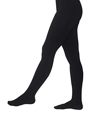 Price comparison product image AceAcr Men's Ballet Tights Gymnastic Pants Footed Dance Leggings Latin Dance Wear Ballerina Tights for Boys Black