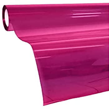 VViViD Colorful Transparent Vinyl Car Window Tinting 30 Inch x 60 Inch 2 Roll Pack  Pink
