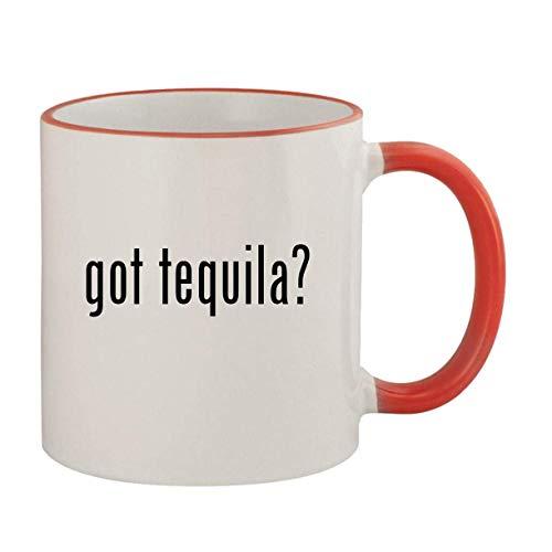 got tequila? - 11oz Ceramic Colored Rim & Handle Coffee Mug, Red