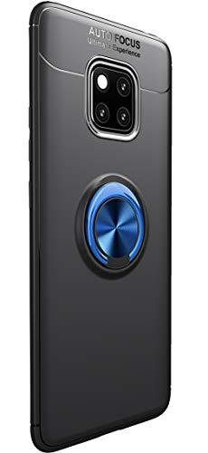 Tianqin Huawei Mate 20 PRO Cover, Ultra Sottile Leggera TPU Antiurto Protectionn Stealth Anello Fibbia Compatibile Supporto Magnetico Auto para Huawei Mate 20 PRO (Nero Blu)