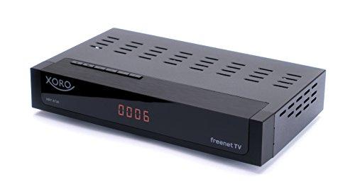 Xoro HRT 8730 Hybrid DVB-C/DVB-T/T2 Receiver (HDTV H.265, kartenloses Irdeto-Zugangssystem schwarz & AV2 Audio/Video Adapterkabel (geeignet für HRT 8729/8730/8770/8772/8780, 1,2 Meter) schwarz