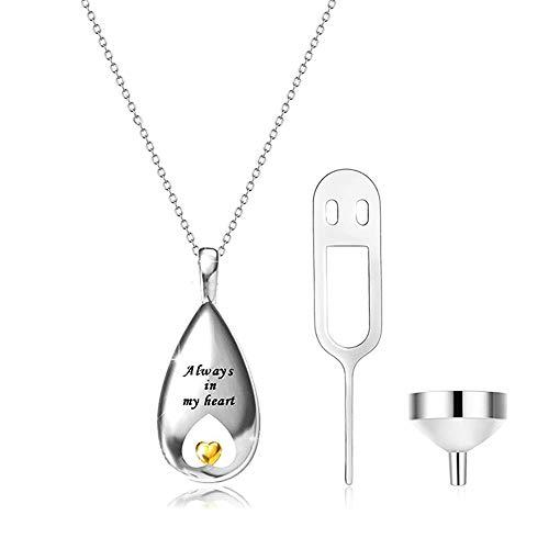 GPWDSN Anhänger für Asche für 'Always In My Heart'Cremation Jewelry 925 Sterling...