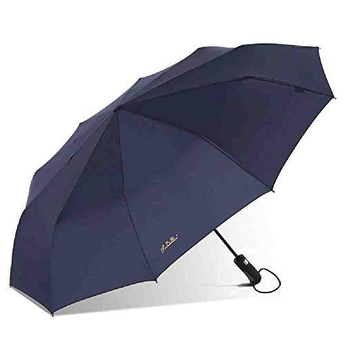 BJDKF paraplu Automatische Winddichte Paraplu Voor Mannen Vintage Regen Jongen Mode Chinese Draagbare Auto Vrouwen Reizen Paraplu's Te Koop, marineblauw