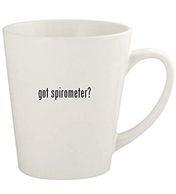 got spirometer? - 12oz Ceramic Latte Coffee Mug Cup, White