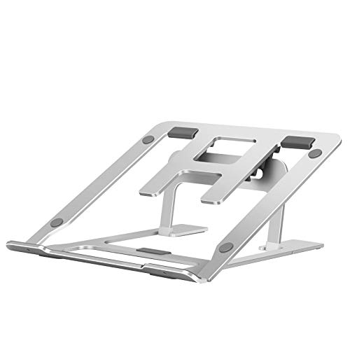 OUTAD Adjustable Laptop Stand Riser Vertical Aluminium, 10-17 inch, Portable Ergonomic Foldable Laptop Stand Holder for Desks, Compatible for MacBook, Tablet, MateBook