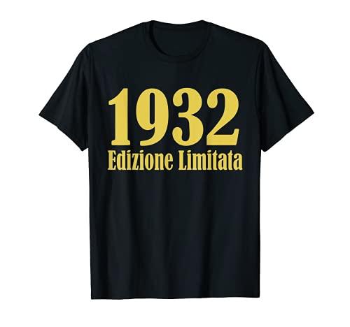 1932 Edizione limitata 89 Anni Compleanno Uomo Donna Regalo Maglietta