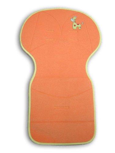 Bolin Bolon Assise universelle pour poussette Broderie girafe En éponge - 50 x 84 cm - Orange